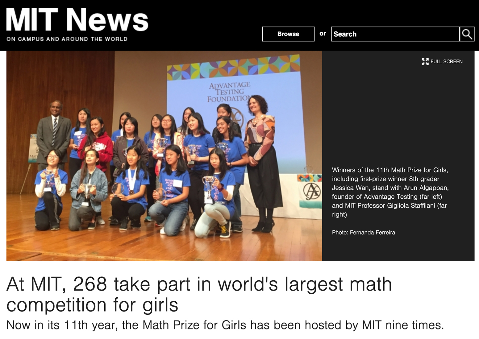 At MIT, 268 take part in world's largest math competition for girls
